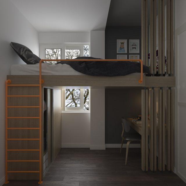 mẫu trang trí phòng ngủ nhỏ đẹp
