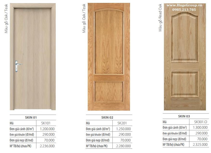 Cửa gỗ công nghiệp cao cấp tại Hà Nội giá tốt, uy tín