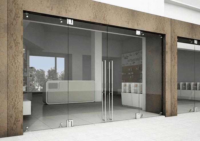 Lắp đặt cửa kính cường lực bản lề sàn, các mẫu đẹp nhất 2019