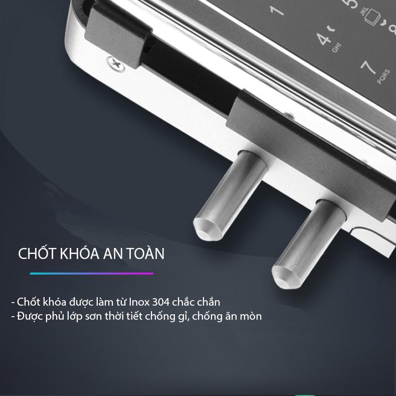 Khóa vân tay cửa kính Kitos KT-GL20