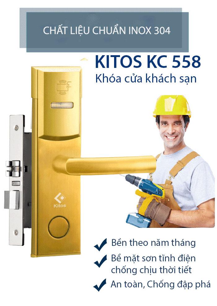 Khóa thẻ từ khách sạn Kitos KC-558