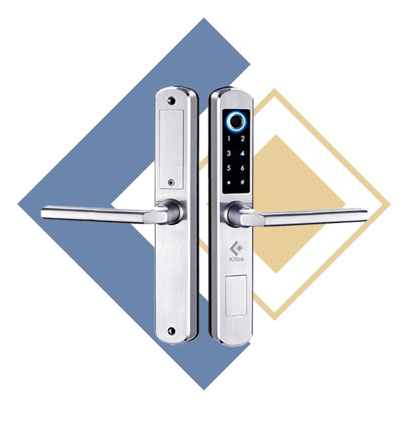 Khóa cửa vân tay cửa nhôm Kitos KT-AL450