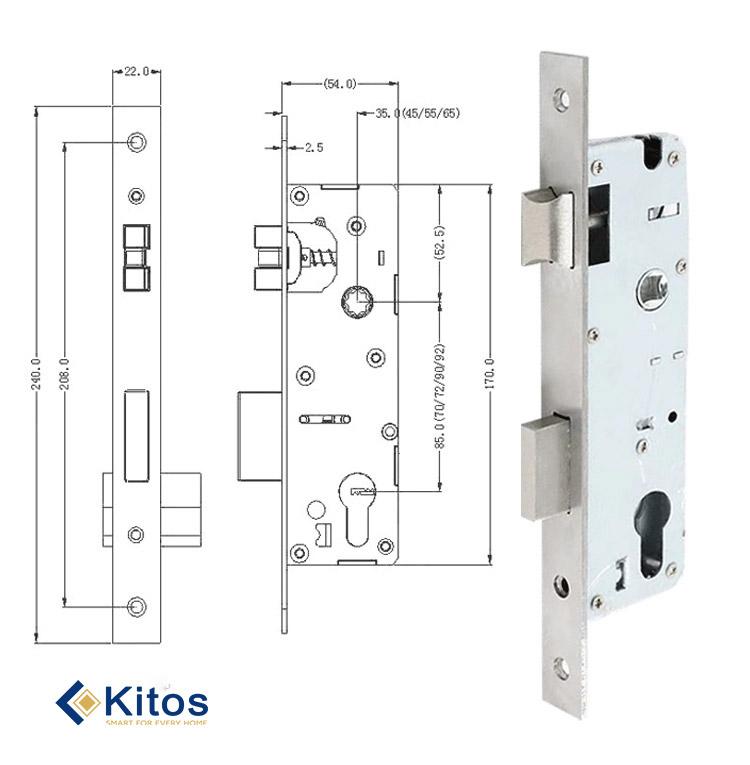 Khóa cửa thẻ từ Kitos KC-A3