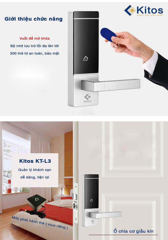 Khóa thẻ từ khách sạn Kitos KC-L3