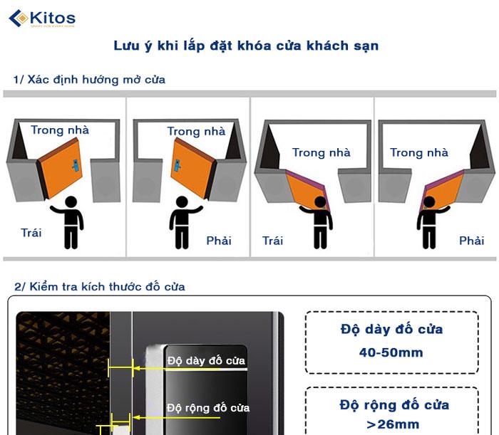 Khóa cửa thẻ từ Kitos KC-L3