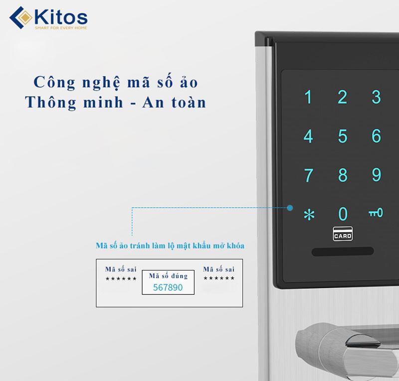 Khóa cửa mã số thẻ từ Kitos KT-883