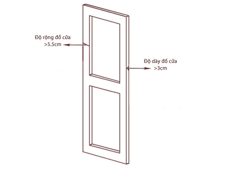 Tiêu chuẩn kích thước đố cửa lắp đặt khóa cửa điện tử Kitos