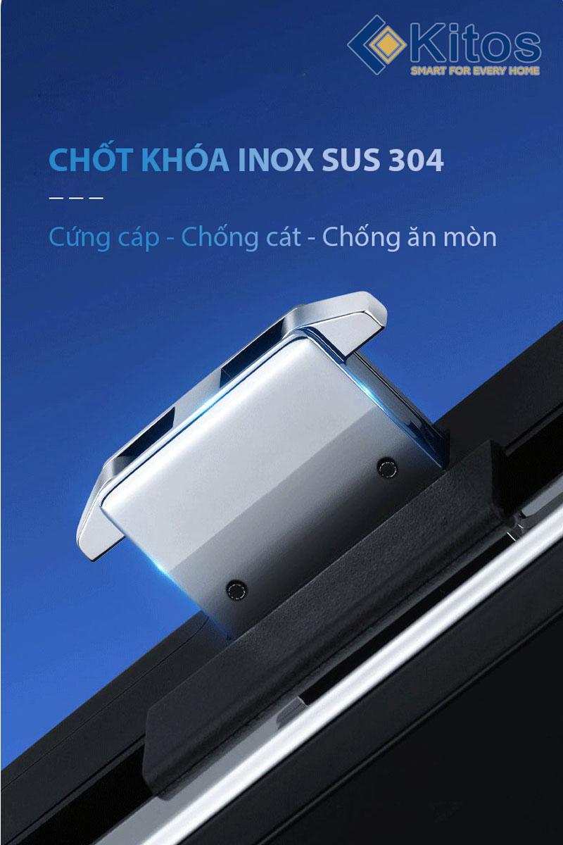 Khóa vân tay cửa kính lùa Kitos KT-GL50