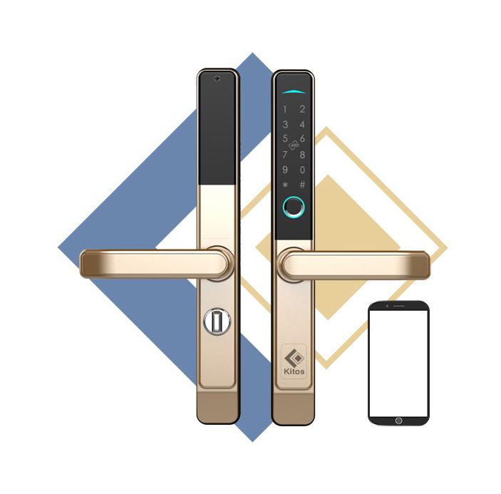 Khóa cửa nhôm mở qua App Kitos KT-AL38 PLus